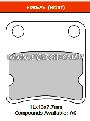FERODO FDB625AG - Комплект тормозных колодок для мотоциклов