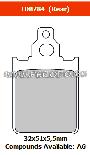 FERODO FDB784SR - Комплект тормозных колодок для мотоциклов